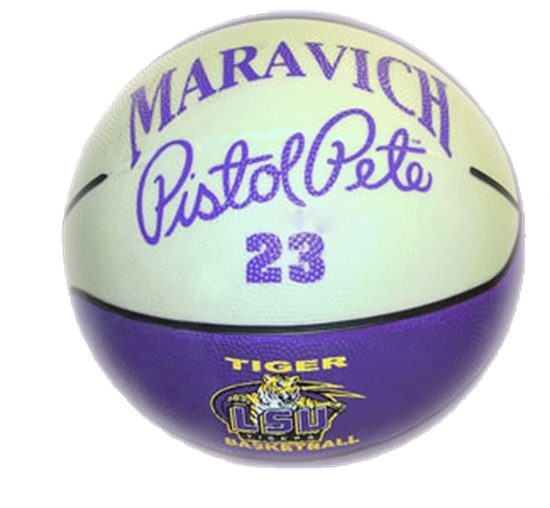 Picture of Pistol Pete Signature Basketball (glow in the dark)