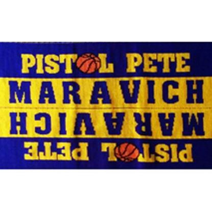 Picture of Purple and gold warm up scarf